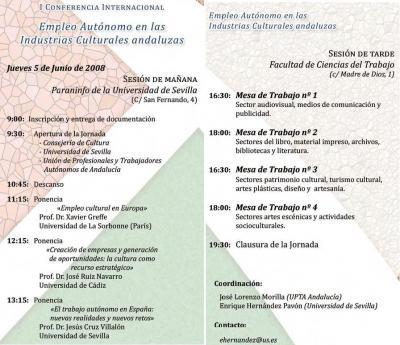 Empleo Autónomo en las Industrias Culturales Andaluzas